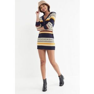 ❣️ NWT Urban Outfitter Fair Isle Sweater Dress XS